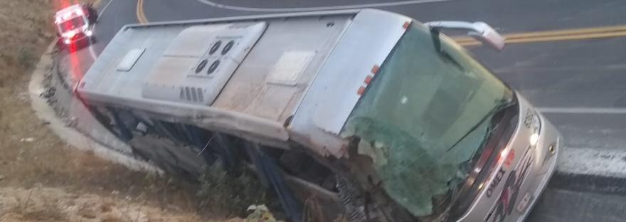 Autobús accidentado