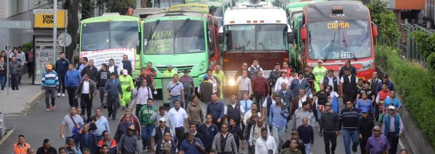 Manifestantes transportistas